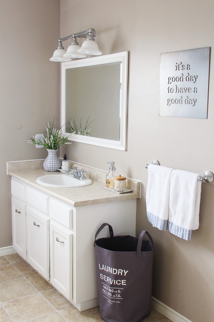 Master Bathroom Organizing Ideas: Ginger Snap Crafts: 10 Bathroom Updates