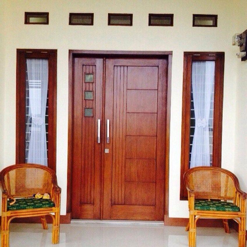 Contoh Pintu Kupu Tarung Lebar Sebelah Minimalis