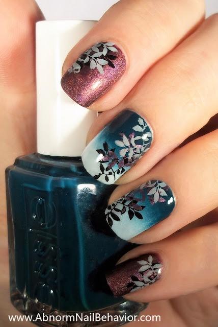 Essie Satin Sister Leave nail art design
