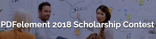 PDFelement Scholarship Contest for Post-Secondary Students - 2018