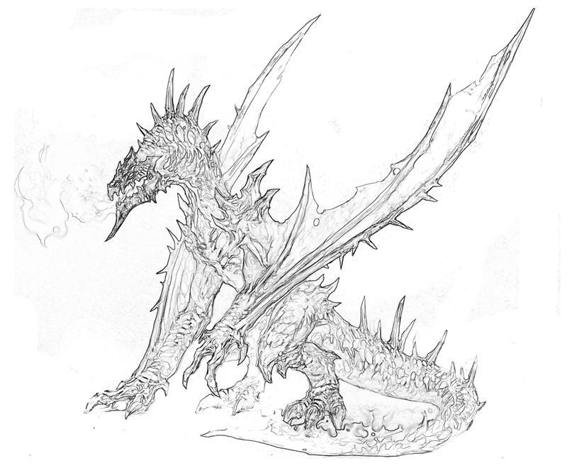 Skyrim Dragons Printable Coloring Pages Coloring Pages