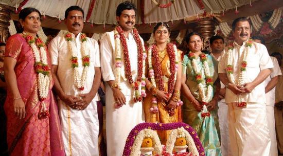 Tamil film star karthi wedding