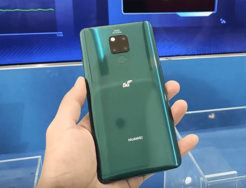 Huawei Mate 20 X 5G shown in a hands-on video