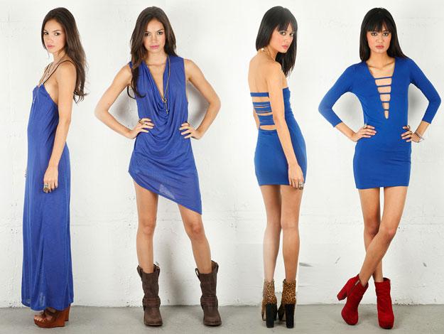 scarpe da abbinare a vestito blu scuro