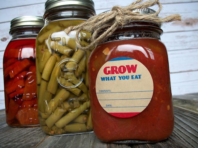Kraft Grow What You Eat Canning Jar Labels