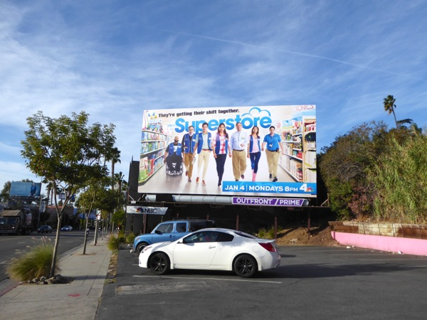 Superstore NBC sitcom billboard