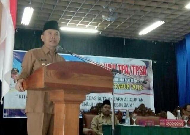 Bupati Adirozal Buka Pembekalan Guru TPA/TPSA Sekabupaten Kerinci