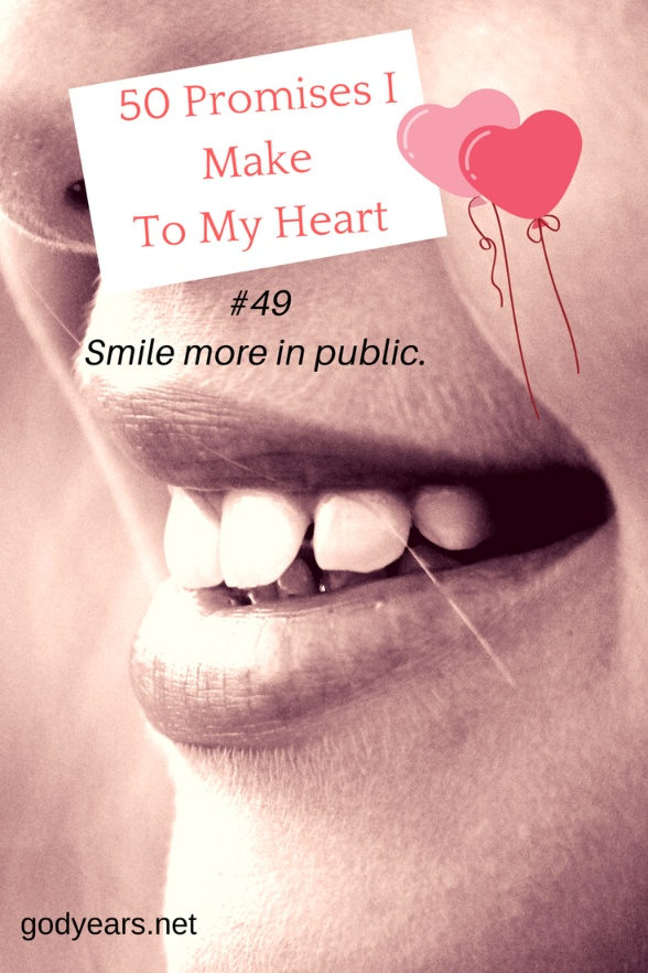 50 Promises I Make To My Heart #WorldHeartDay - Smile More
