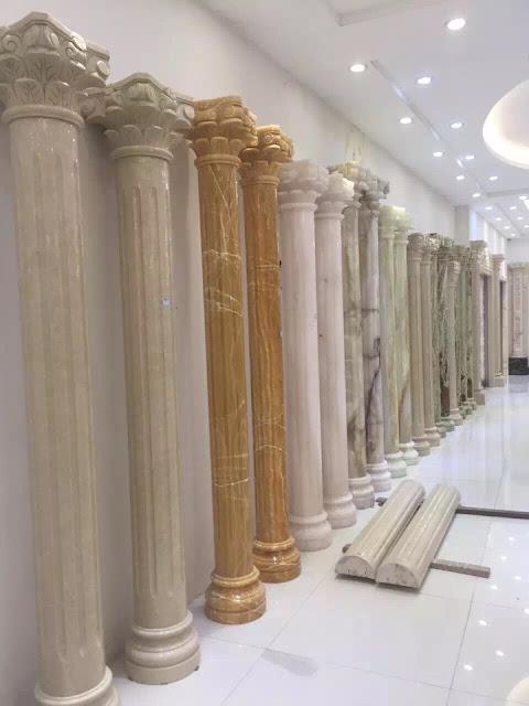 cột tròn đá cẩm thạch đẹp