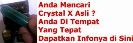 """info """"crystal x asli"""" lengkap"""