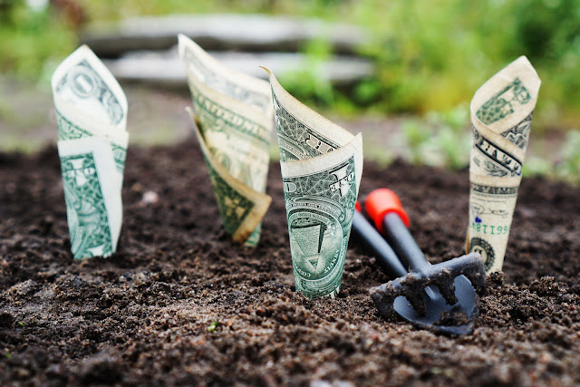 Concept of how dividend growth investing works, health care, real estate