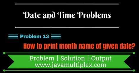 Java program that prints month name of given date.