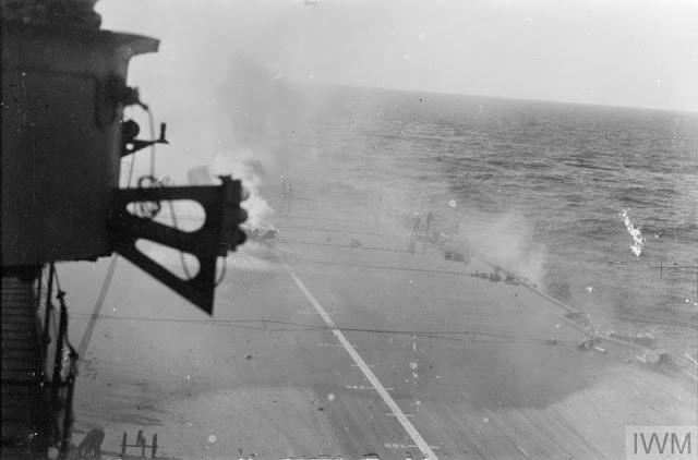 10 January 1941 worldwartwo.filminspector.com HMS Illustrious fires