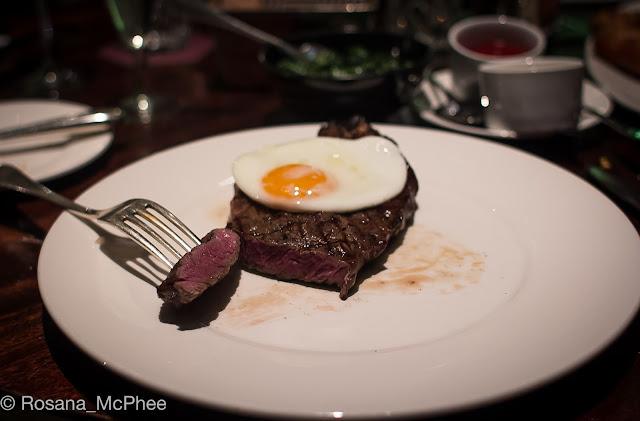 Quaglino's London brunch steack and egg