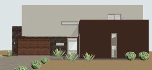 Planos y fachadas de casa habitaci n estilo minimalista for Casa minimalista un nivel