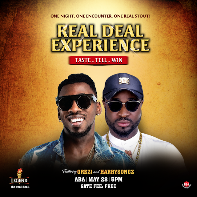 Harrysong, Orezi to storm Aba for the Real Deal Experience