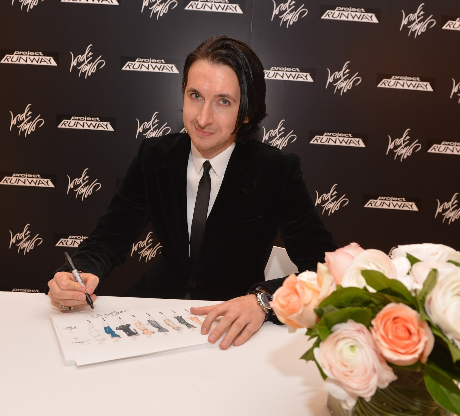 266d0c4944f9 Dmitry Sholokhov at the launch of his debut dress collection at Lord &  Taylor, Fifth Avenue. Image: Stephen Lovekin, Getty Images