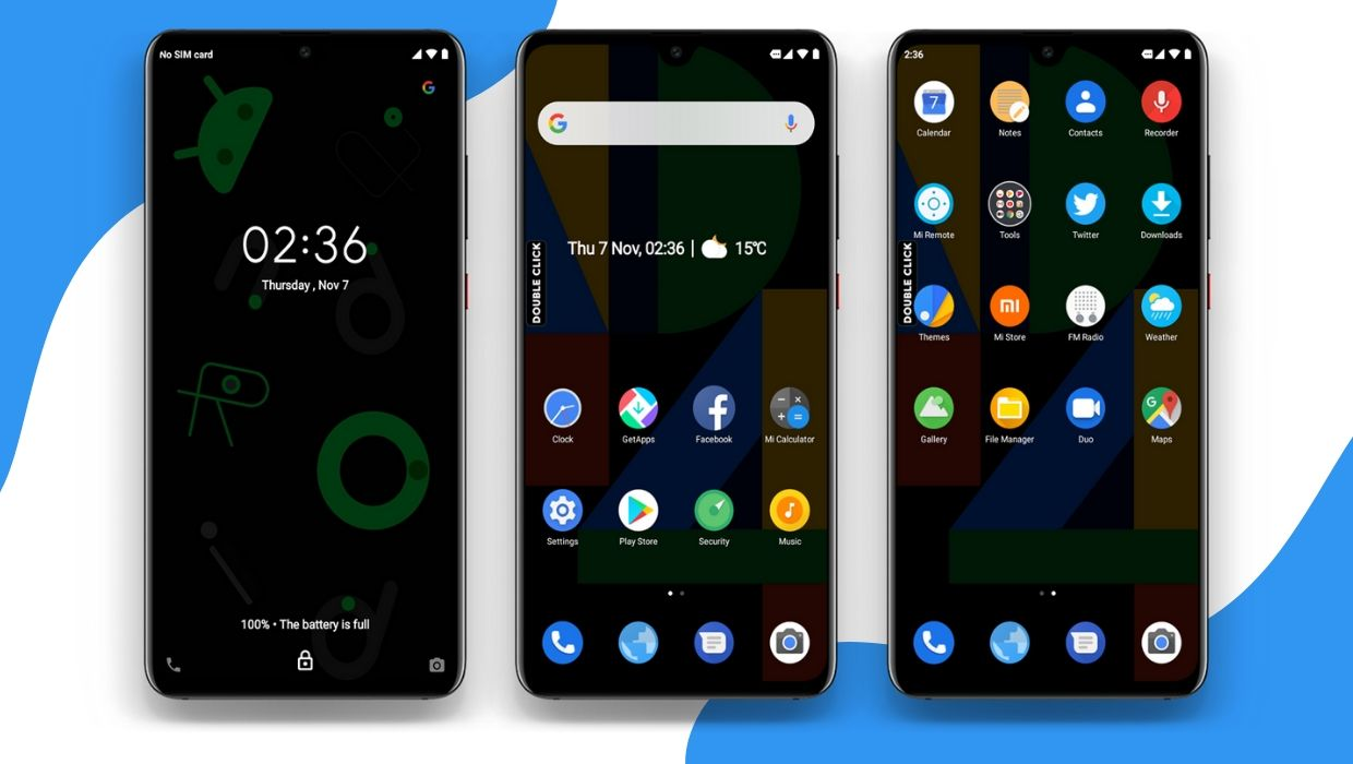 Android Pixel 4 MIUI Theme