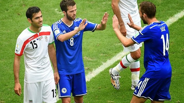 Iran's hopes of qualifying for the World Cup last 16 ended as they lost to already-eliminated Bosnia-Hercegovina.