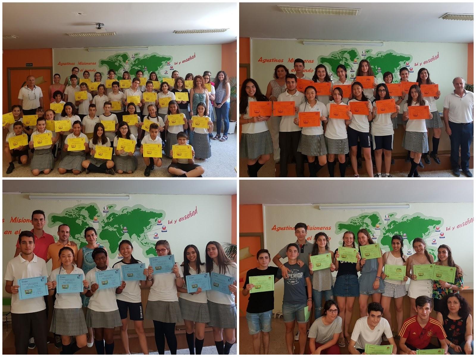 Agustinas Valladolid - 2017 - Programas Convivencia - Diplomas