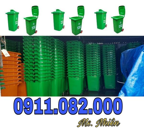 Thùng rác giá rẻ tại kiên giang- thùng rác 120 lít 240 lít 660 lít- 0911082000