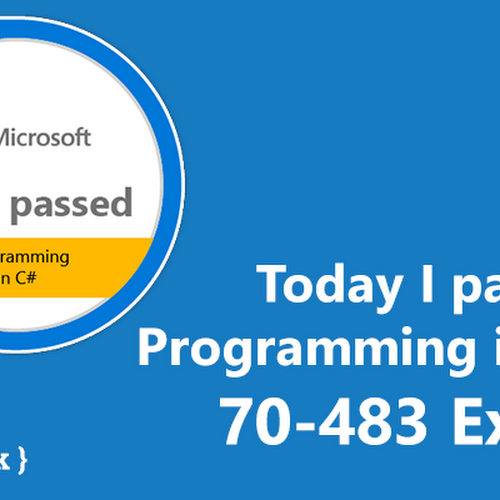 Today I passed 70-483 - Programming in C# Exam - Almir Vuk
