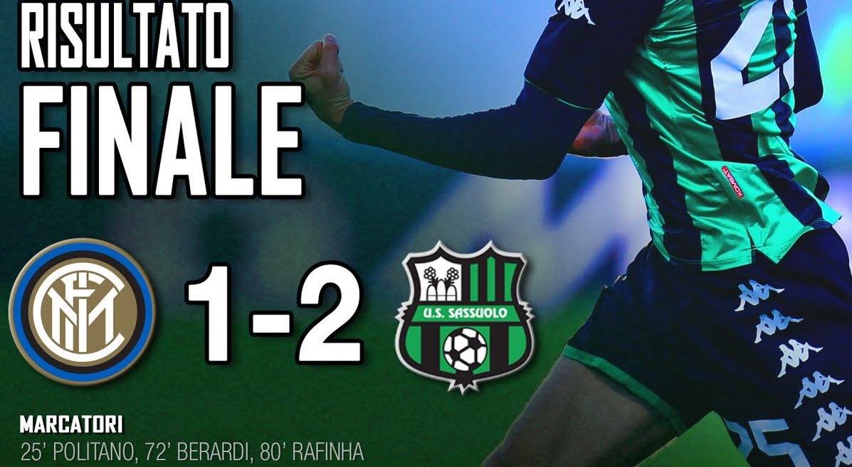 Inter Sassuolo doveva essere una goleada, e invece è stata una sconfitta