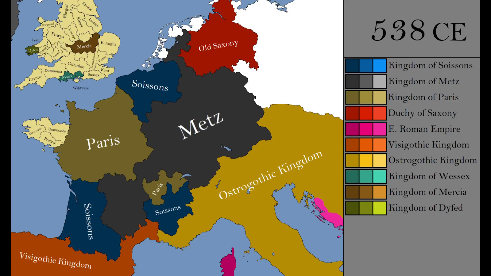 western europe in 538 a d