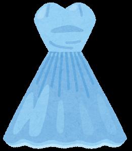 カラードレスのイラスト(青)