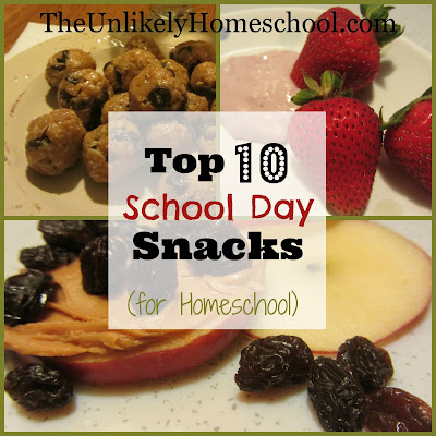 Top 10 School Day Snacks (for Homeschool)-The Unlikely Homeschool