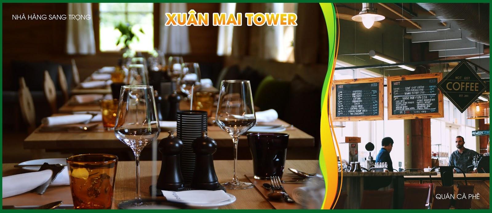 Nhà hàng sang trọng của Xuân Mai Tower Thanh Hoá
