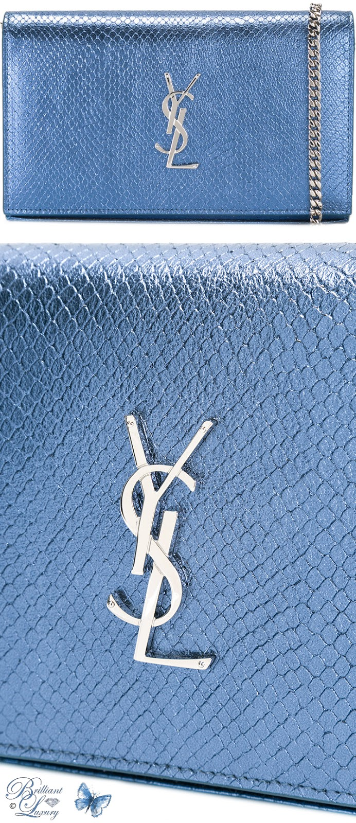 Brilliant Luxury ♦ Saint Laurent Monogram Chain Wallet