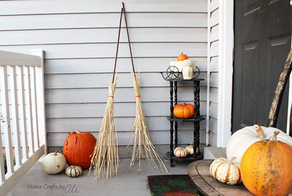 Cute and Easy to Make Fall Broomstick Decorations
