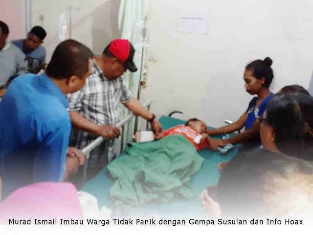 Murad Ismail Imbau Warga Tidak Panik dengan Gempa Susulan dan Info Hoax