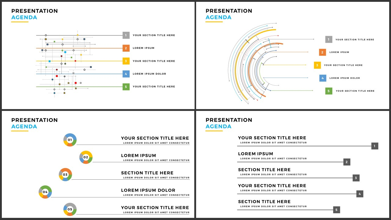 beautiful  table of contents for free powerpoint template, Powerpoint