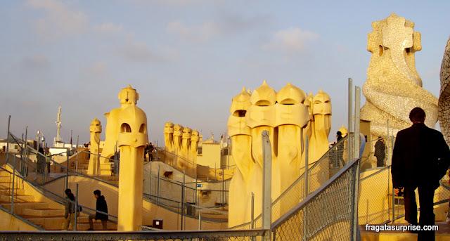Terraço de La Pedrera, em Barcelona