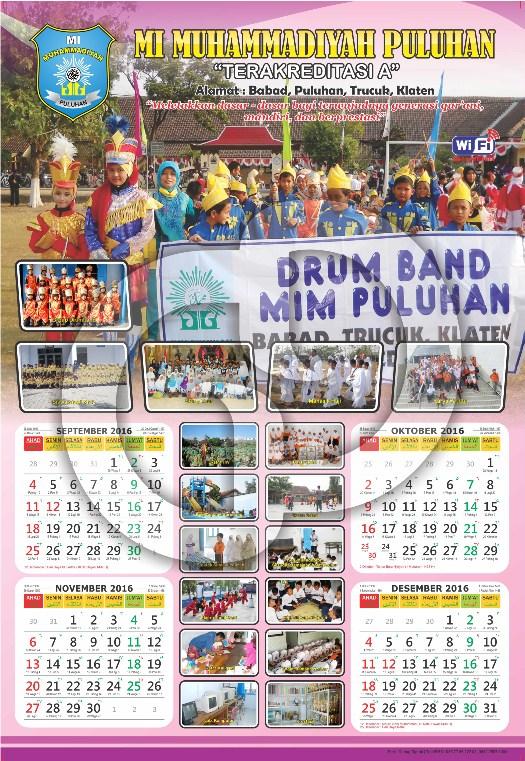 Cetak Kalender 2017 : Kalender Dinding 3 Lembar - Cetak ...