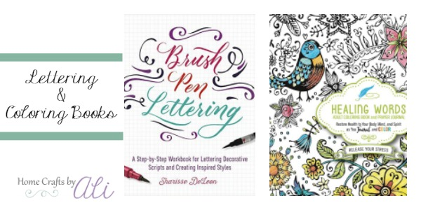 Inspirational coloring book and beautiful brush lettering workbook new this week