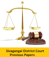 Sivagangai District Court Previous Papers