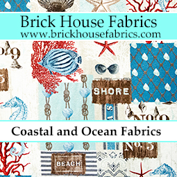 Coastal Nautical Beach Fabric