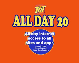 TNT All Day 20 – up to 800MB data for only Php20/Day