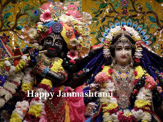 Little Krishna with happy janamshtami photos