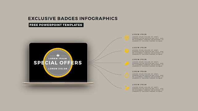 Infographic Badges Free PowerPoint Template for Special Offers Slide 9