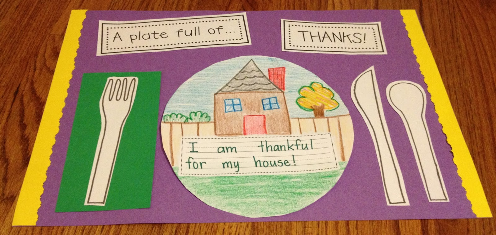 Thanksgiving Classroom Idea ~ A plate full of thanks craftivity teacher idea factory
