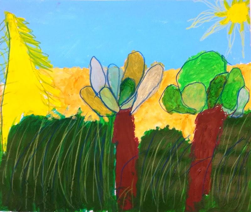 De Hockneyske landskabs eksplosioner står 4. og 5. klasse for.