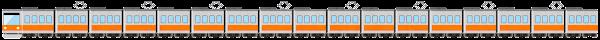 電車のライン素材(オレンジ)