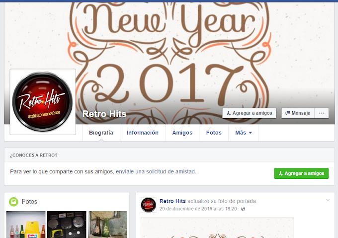 Perfil Falso en Facebook de Retro Hits