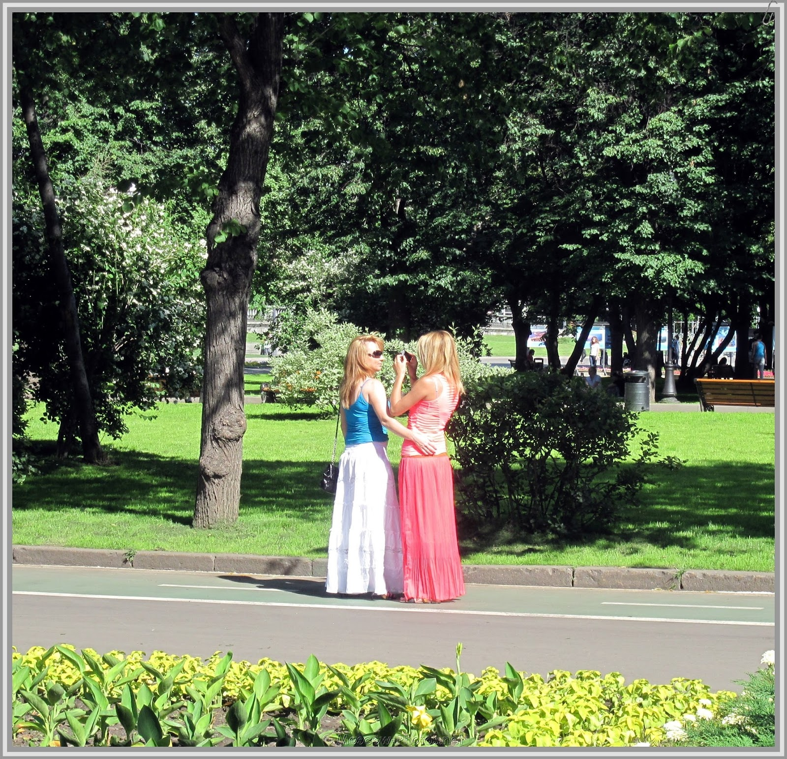 Russian Ladies at Summer Day
