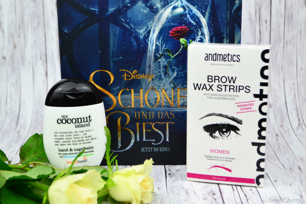 Glossybox März 2017 - Treaclemoon My Coconut Island & andmetics Brow Wax Strips