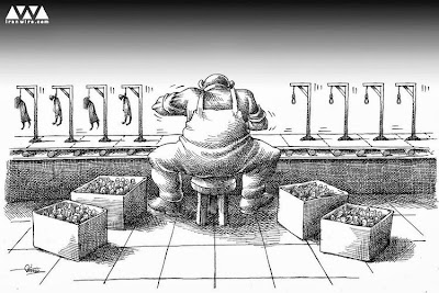 The execution line - Iran